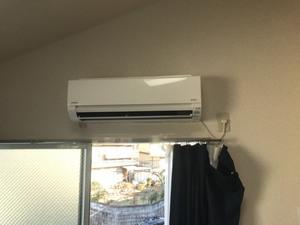 (1/25) 伏見区にてエアコン取付⑦
