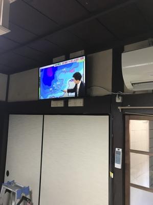 京都市左京区にてテレビ壁掛工事①