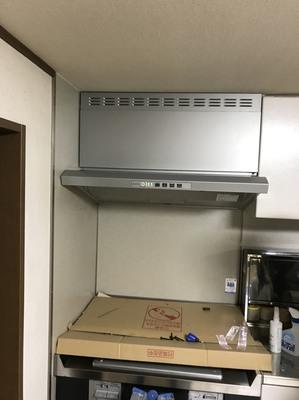 (2/17) 京都市東山区にてレンジフード入替工事_施工後