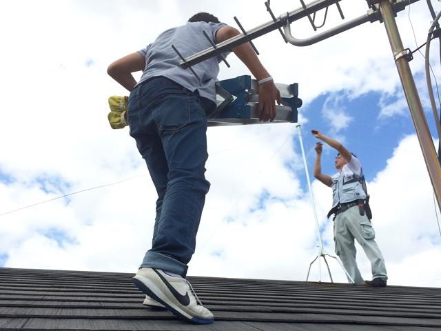 屋根上にも設置可能